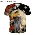 Men women animal printed 3d t shirts Wolf/Eagle/Tiger casual short sleeved summer shirts homme fashion rock hip hop tees tops