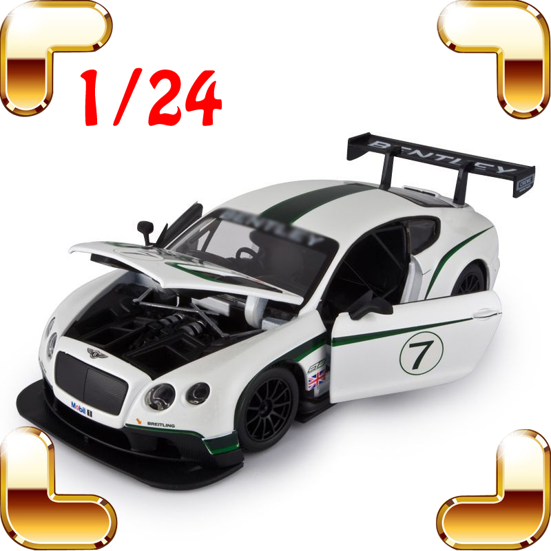 New Arrival Gift GT3 1/24 Model Metal Race Vehicle Scale Simulation Toys Alloy Collectables Metallic Decoration Men Present new year gift gallargo 1 18 large model metal car metallic scale simulation diecast alloy collection toys vehicle present