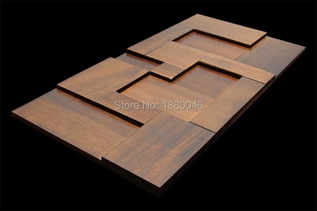 2018 new coming 1box 6pcs 30x60cm north american Brwon wood mosaic wood mosaic for wall cladding decor