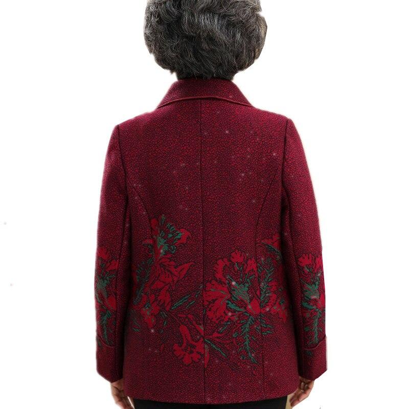 2019 Taille dark Veste D'âge Femmes De Nouveau Manteau Tops Outweasr Casual Printemps Moyen Lâche Mode Odfvebx La Longues Red Manches À Plus Vêtements Red YXvqnfAv