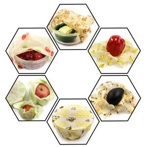 Image 4 - Reusable Beeswax Cloth Wrap Food Fresh Bag Lid Cover Stretch Lid Jungle Party Bees wax wrap plastic wrap