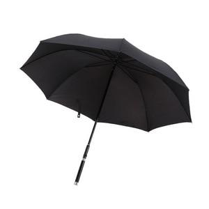 Image 4 - HHYUKIMI Marke Mode Lange Griff Mann Automatische Regenschirm Winddicht Business Schwert Krieger Selbst verteidigung Sunny Kreative Regenschirm