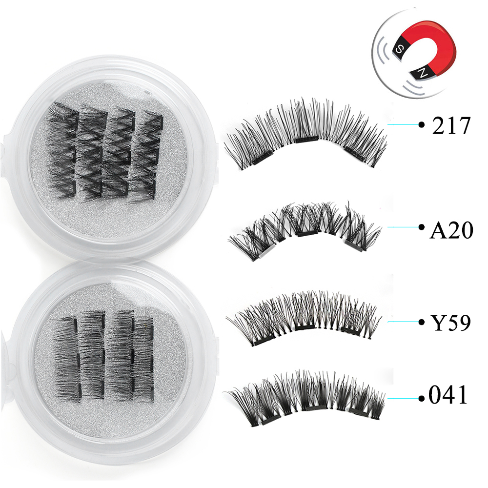 062ffac9eef 1 Set Make up Extension Tools Coverage Glue-free Lashes Cross Long Magnet  Eye Lashes