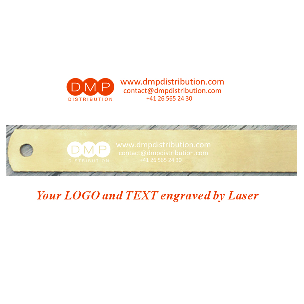Customized Brass Stainless Angle Ruler Practical Metric Inches Measurement Engraved By Laser On Backside With Company Logo&info