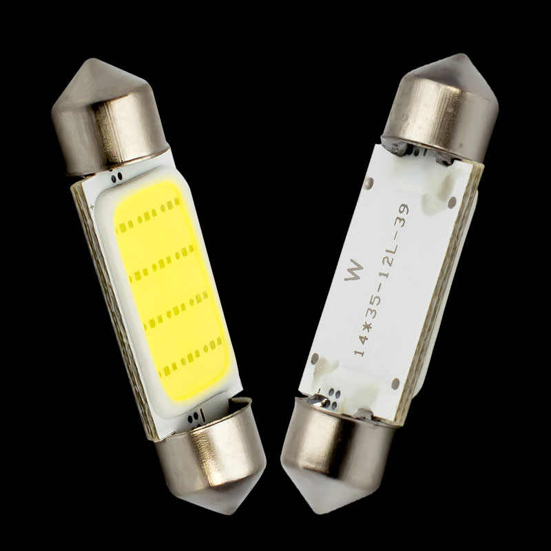 1pcs 39mm C5W C10W SV8.5 12844 DE4410 Festoon COB led Car Licence Plate Bulb Auto housing Interior lamps Reading Lights