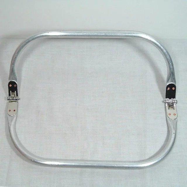 Aluminium Pour 12 Bourse rectangle Coudre Ou Pouce Tricot Poignées En Poignées À Crochet Sac Main Charnière Pqxaqt
