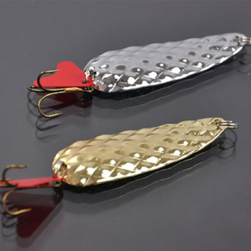 2PCS/Lot Long Shot Fishing Lure Metal Alloy Peche 5cm 8g Hard Lure With Sound Slice Wobbler Carp Spinner Gear Bait