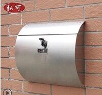Garden decor / Villa mailbox / newspaper box / European mailbox / outdoor pastoral retro mail / stainless steel mail/Home Decor