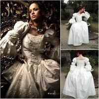 Пользовательские mader 725 Винтаж костюмы 1860 S Гражданская война Southern Belle бальное свадебное платье/Готическая Лолита платье в викторианском сти