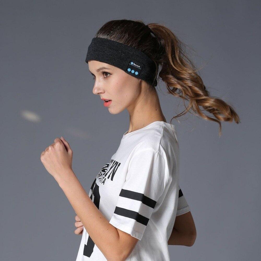 Stricken Musik Stirnband Headset w/Mic Wireless Bluetooth Kopfhörer Kopfhörer Für Jogging Yoga Gym Schlaf Sport Hörer