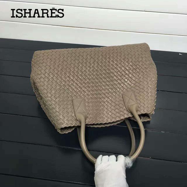ISHARES 2016 fashion designer handbags women sheepskin knitting shoulder bags classic woven shopping basket tote bags IS115664