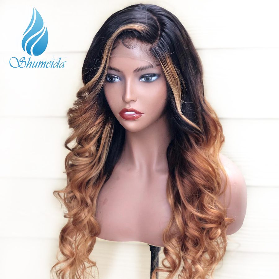 SHD 13 6 Lace Frontal Wigs with Baby Hair Peruvian Remy Human Hair Wigs for Women
