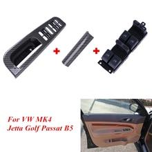 Двери, окна главный выключатель Управление с ручкой отделкой Панель Обложка для VW Golf 4 Passat B5 B5.5 Jetta TDI MK4 1998-2004 P494110