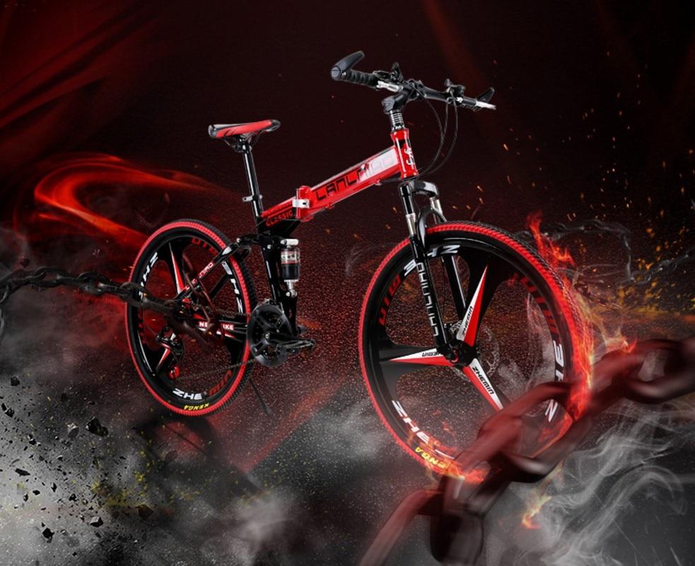 LLNiao Mountain Bike 24/26 Inch Tire 21/27-speed Double Disc Brakes Bicycle