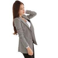 Women Plaid Blazers and Jackets Suit Ladies Long Sleeve Work Wear Blazer Plus Size Casual Female Outerweare jacket Slim clothing