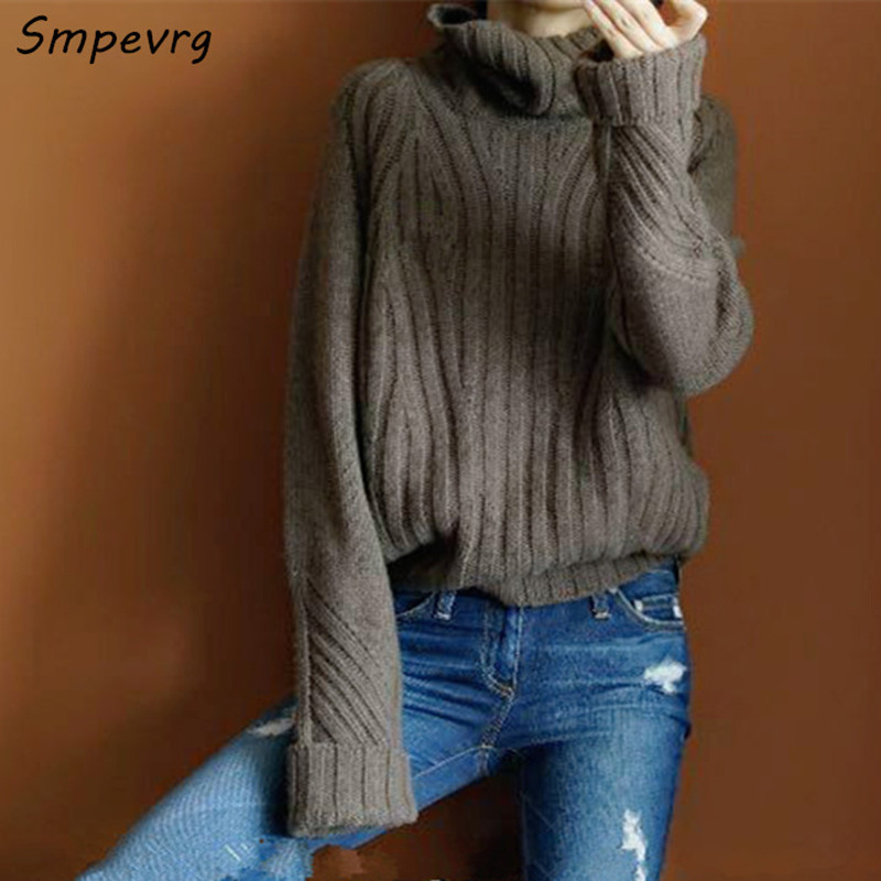 a7207479df0c5 Long Collar European Style Sleeve Women Smpevrg Sweaters And Pullovers Fema  High pYqngAn