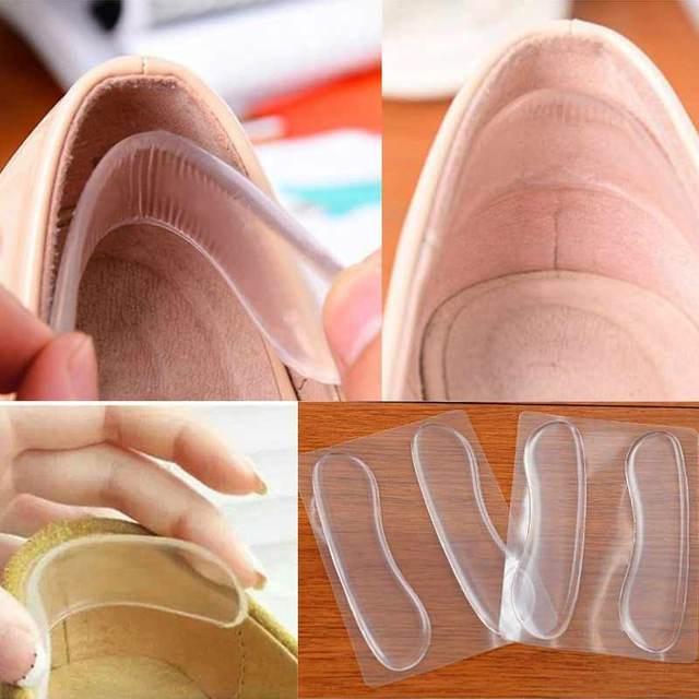 سيليكون النعال للأحذية مكافحة زلة جل منصات القدم الرعاية حامي ل كعب مكافحة فرك وسادة منصات الأحذية النعال إدراج