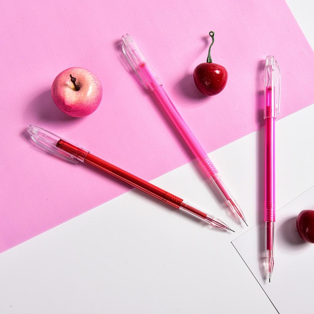0.7mm Erasable Gel Pen Ink Pens Easy To Wipe School Office Stationery Acc Tool
