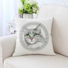 BZ209 Simple Fashion Series Pillowcase Pillow Cover Machine Washable Home Textile 45cm*45cm/18x18 Inch