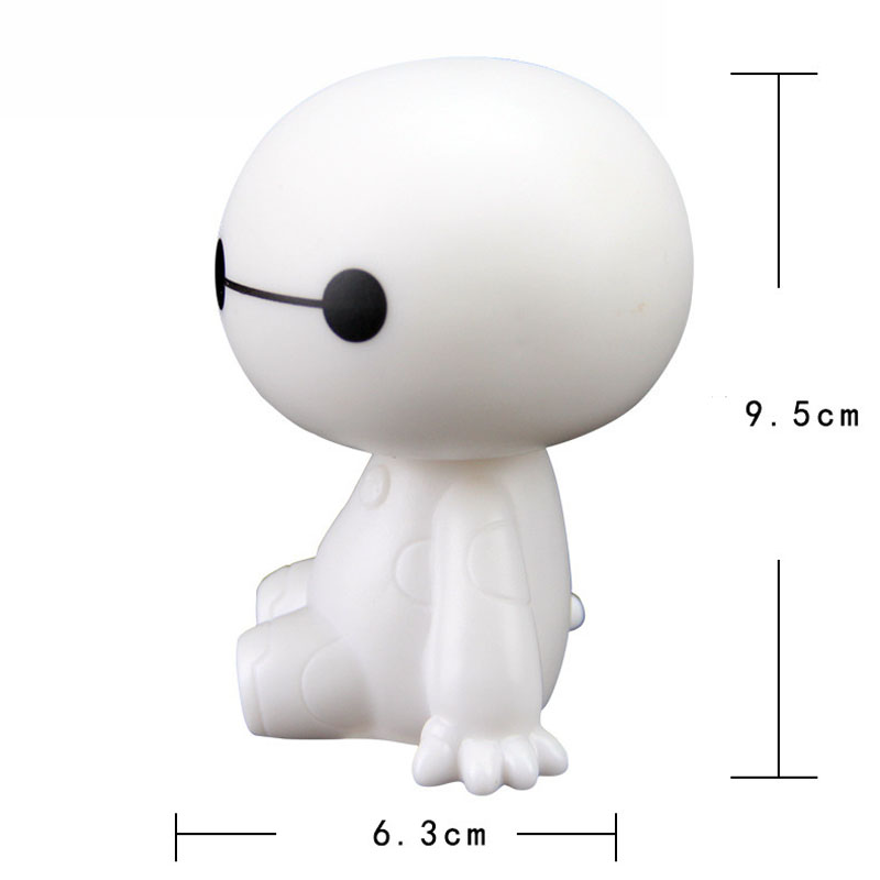 Image 2 - Cartoon Plastic Baymax Robot Shaking Head Figure Car Ornaments Auto Interior Decorations Super Marines Toys Ornament Car Styling-in Ornaments from Automobiles & Motorcycles