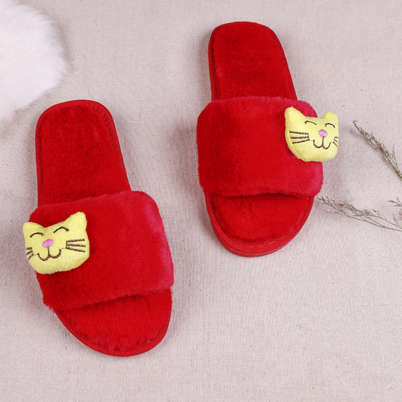 Christmas Slippers Baby Children Slippers Kids Winter Warm Flip ...