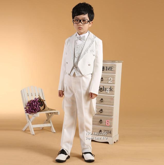 Kids/Children White Gilding Formal Dresses Boys Blazer Suits Wedding ...