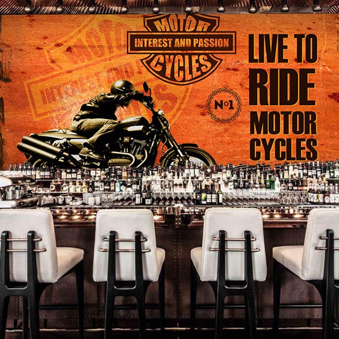 3D papel Murals Custom 3d Wall Photo Mural Wall paper NO.1 Harley Motorcycle 3d wallpaper Murals for Restaurant Wall paper custom 3d photo wallpaper mural nordic cartoon animals forests 3d background murals wall paper for chirdlen s room wall paper
