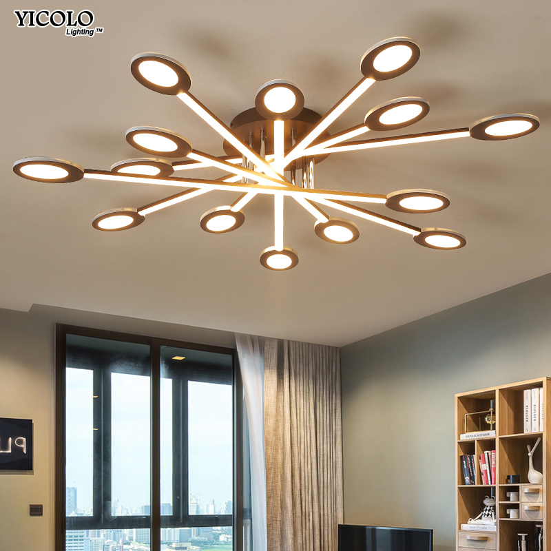 Ceiling Lights & Fans White Frame Modern Led Ceiling Lights For Living Room Bedroom Plafond Led Home Lighting Ceiling Lamp Home Lighting Fixtures Dero Ceiling Lights