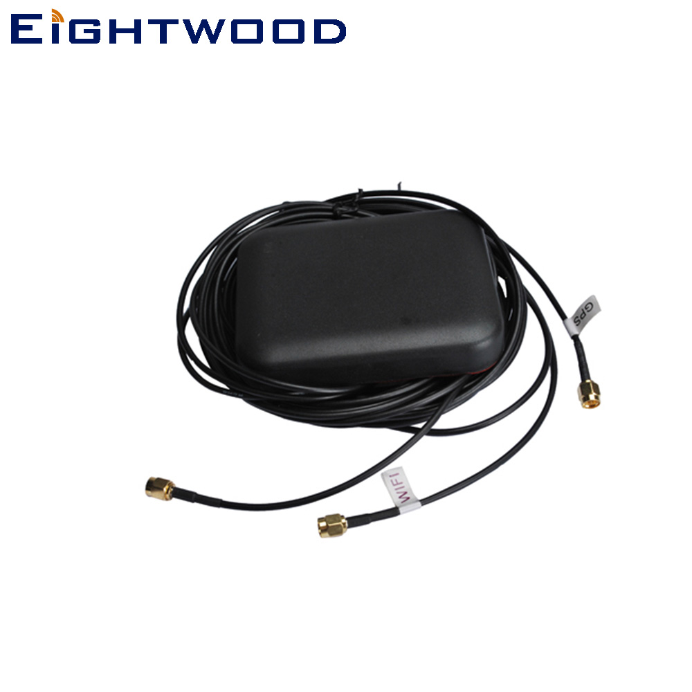 Eightwood Car Brand New Multi-band GPS/Wifi/Iridium Antenna with SMA Plug Connector for VW Audi BNW Ham lots of 5pcs active car gps antenna aerial with sma connector