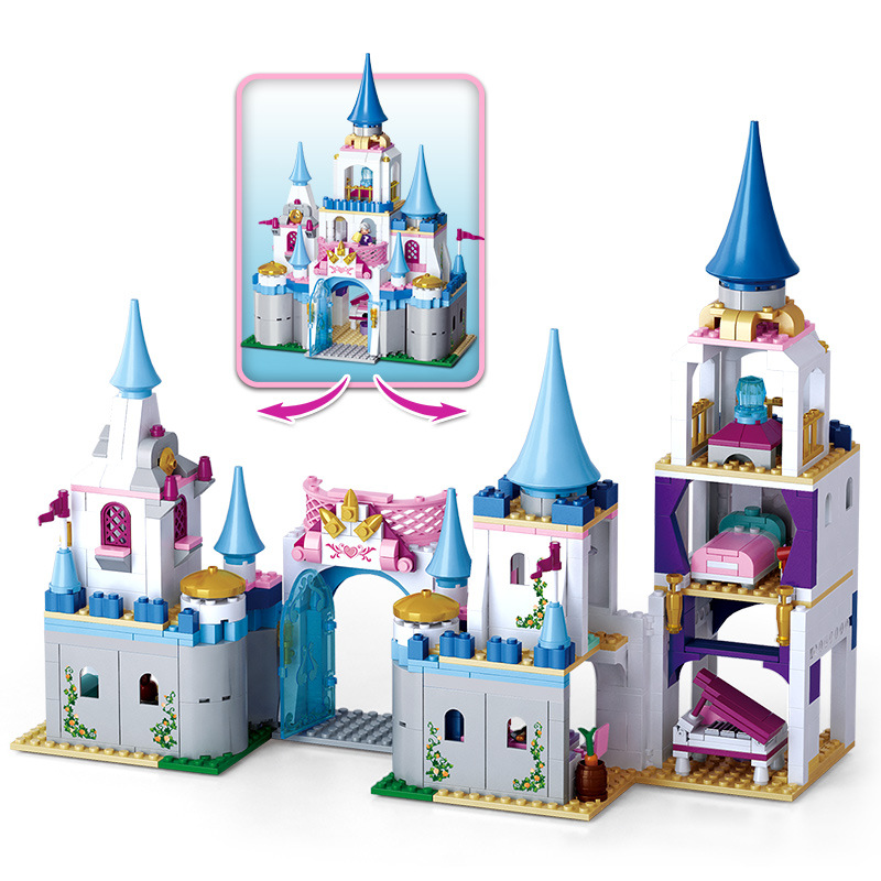 815pcs Children s building blocks toy Compatible city friends girls Pink dream sapphire castle Bricks birthday