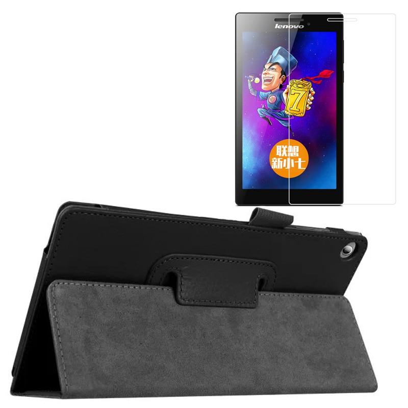 """Uus luksuslik Folio seista nahast kaitsekott + 1x selge ekraani kaitsja Lenovo Tab 2 Tab2 A7-20 A7-20F A7 20F 7 """""""