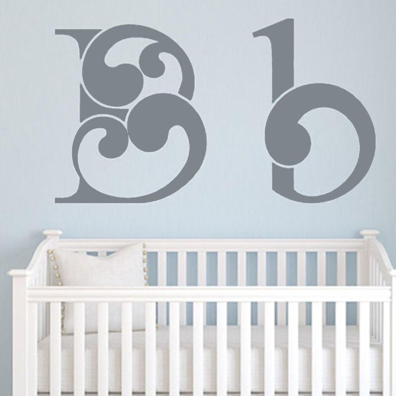 Most Popular Educational Letter B Wall Sticker For Babys Room Home Decor Vinyl Art Wallpaper Sticker