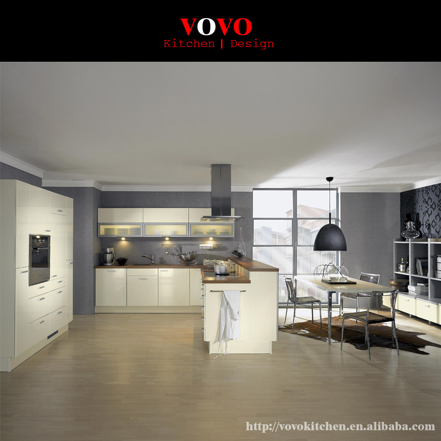 White Lacquered Kitchen Cabinetry: White Lacquer Kitchen Cabinets-in Kitchen Cabinets From