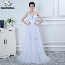 2018 Spaghetti Straps Ruched Sexy Sweetheart A-line Wedding Dress Open Back Long Bridal Dress Under 100(China)
