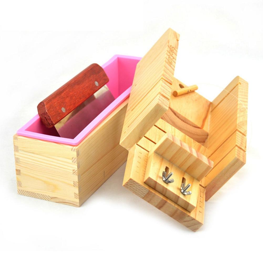 Wooden Soap Maker Tools Cutter Silicone Blade Arts Crafts Sewing wood organizer set storage box boite de rangement opbergdoos