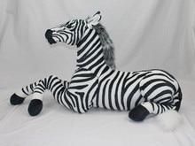 big new creative simulaiton zebra toy plush huge lying zebra model doll gift doll about 110cm