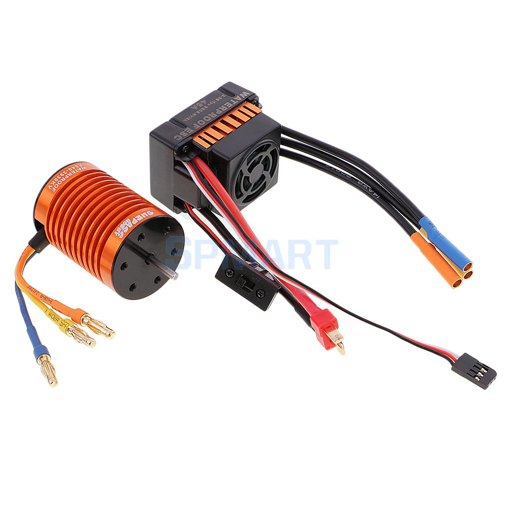 Waterproof F540 3930KV Brushless Motor +45A ESC for 1/10 1/12 RC Car Truck