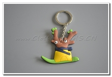 key holder, custom cartoon rubber labels for souvenirs, cartoon gift labels, make as customer's design, PVC material