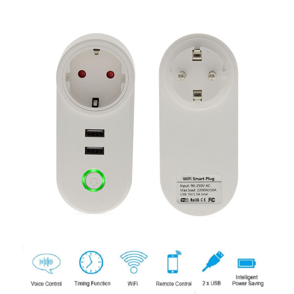 Socket Plug Outlet With Dual Usb