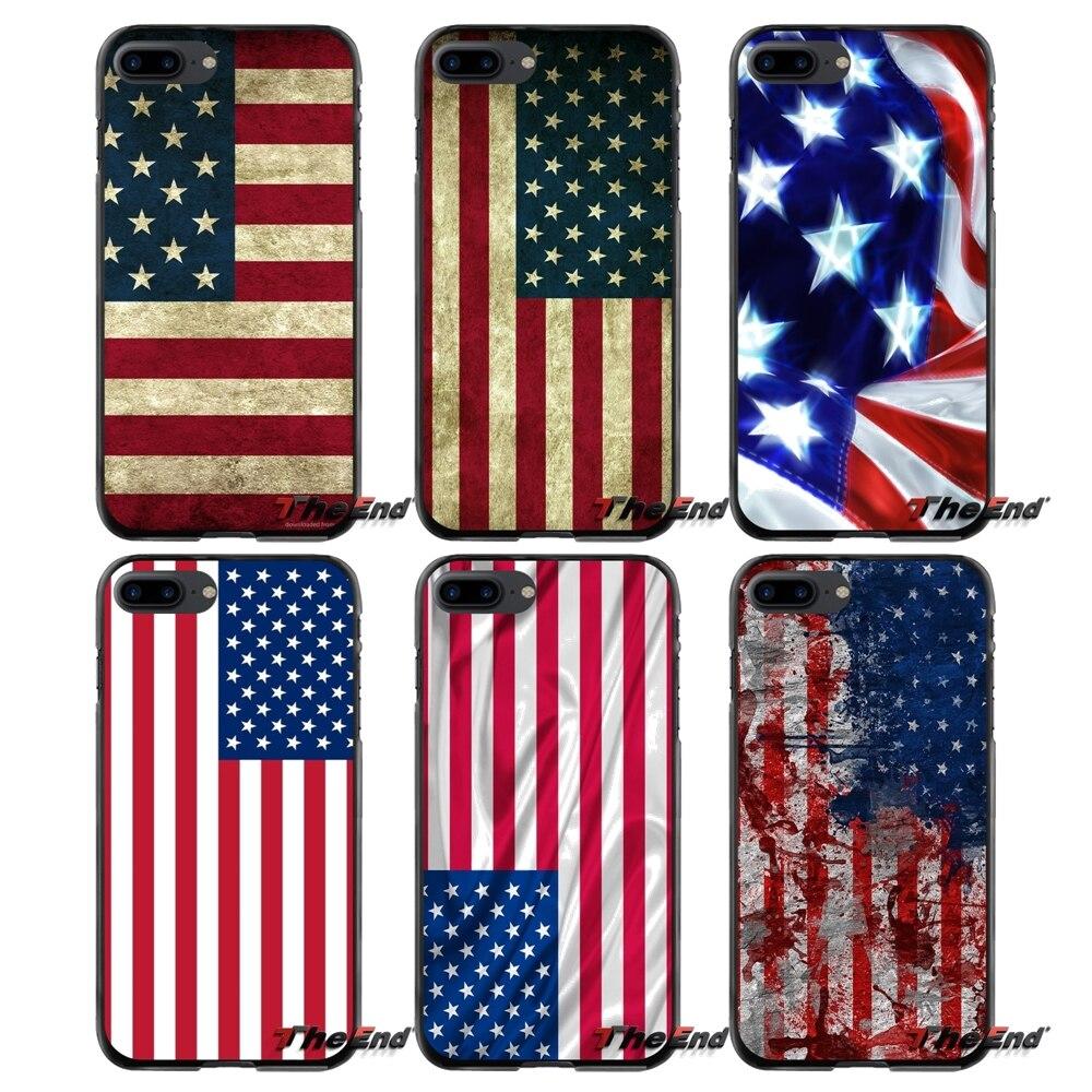 Для samsung Galaxy Note 2 3 4 5 S2 S3 S4 S5 мини S6 S7 край активных S8 плюс аксессуары телефон случаях охватывает Соединенные Штаты Флаг США