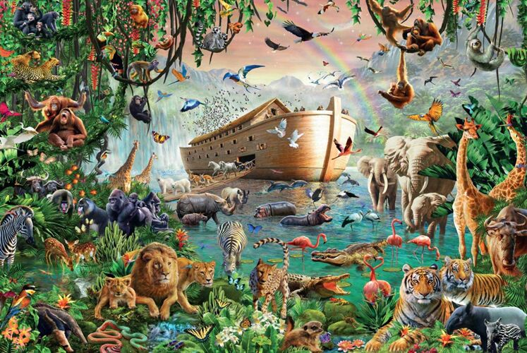 Noahs Ark The wooden puzzle 1000 pieces ersion jigsaw puzzle white card adult childrens educational toysNoahs Ark The wooden puzzle 1000 pieces ersion jigsaw puzzle white card adult childrens educational toys