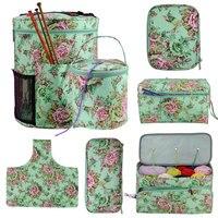 Looen пустая сумка для хранения пряжи, сумка для вязания крючком «сделай сам», 7 видов стилей крючком и вязальной сумкой для вязания и шитья