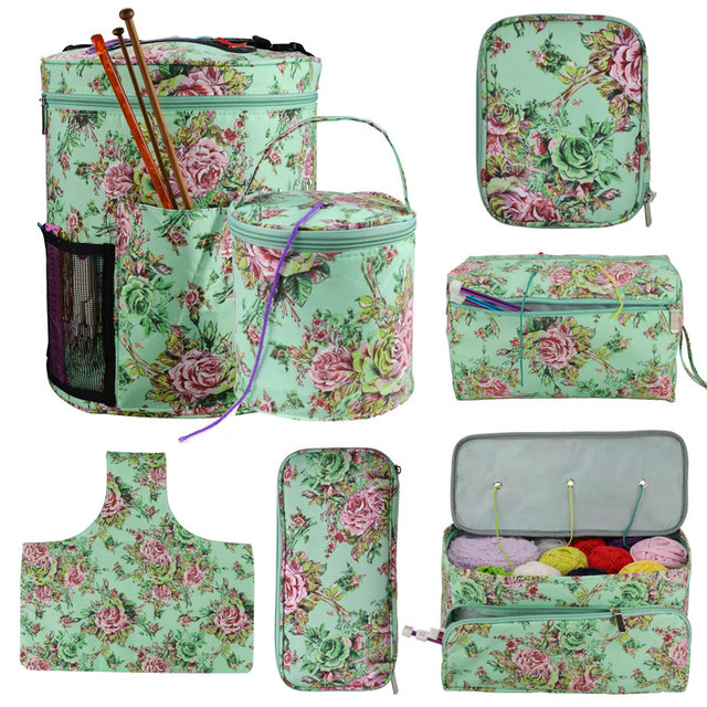 Looen Empty Yarn Storage Bag DIY Weave Crochet Hook Bag 7 Styles Crochet Hook And Knitting Bag For Hooking And Knitting Sewing