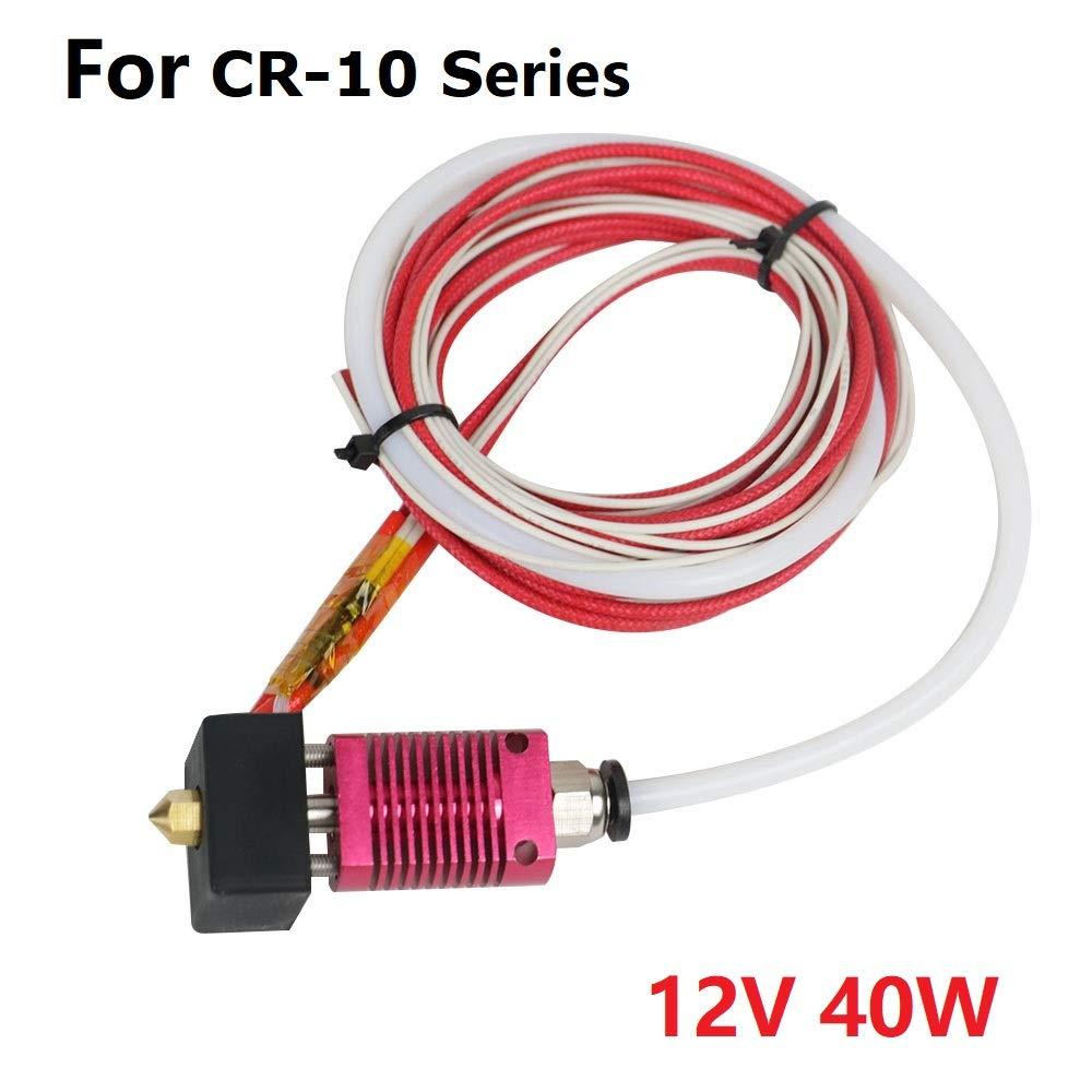 CR10 Hotend, Assembled MK8 Extruder Kit for CR 10S/ CR 10S400/ CR 10S500 12V)