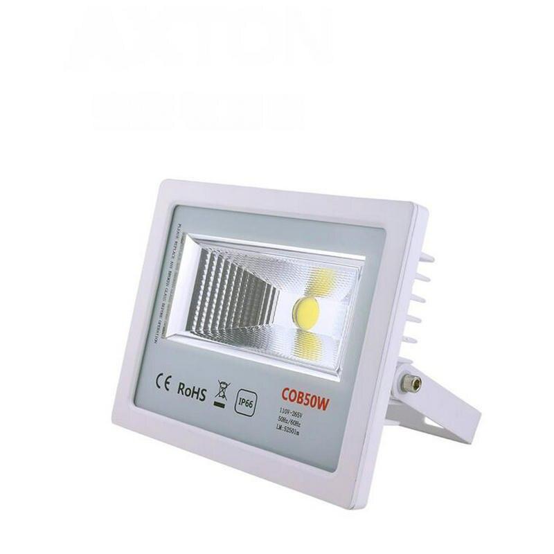 En gros 10 pcs 50 w A MENÉ la lumière D'inondation blanc Chaud/blanc AC85-265v 50 watt LED Projecteur 90-100LM/W haute puissance Stree lumière Extérieure