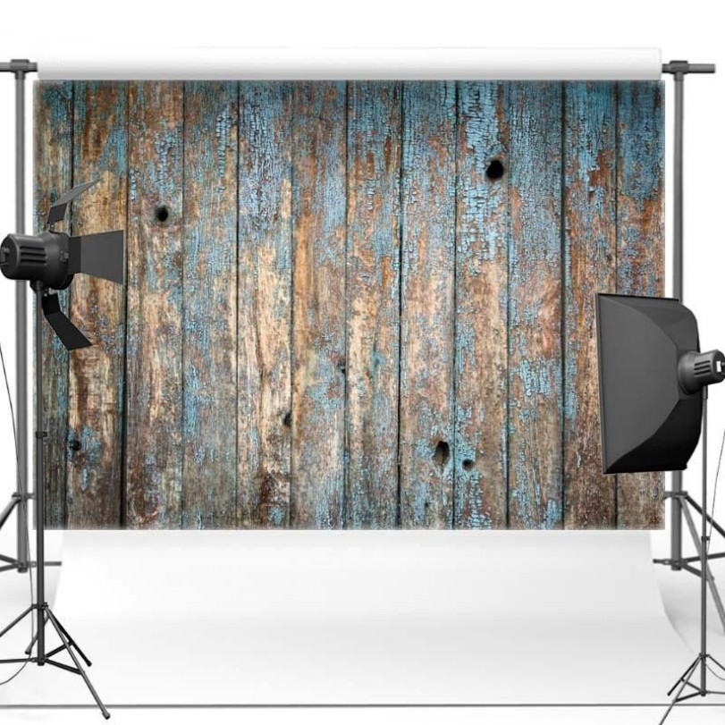 Blue Old Vintage Rustic Wood Themed Backgrounds Vinyl Cloth High Quality Computer Print Wall Backdrop In Background From Consumer Electronics On