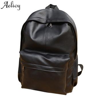 bd51fedc4243 Aelicy из искусственной кожи женский рюкзак 2019 Модный корейский большой  емкости женский рюкзак для ноутбука кожаный дизайн Mochila Escolar Menina