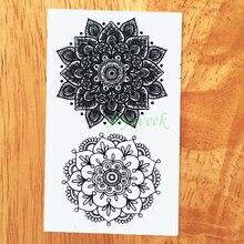 Totem lotus mandala temporary transfer fake tattoo flash girl sticker water