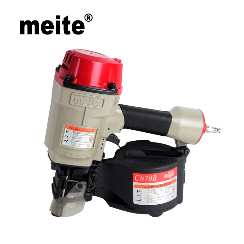 CN70B Meite supply powerful coil nail tools wood working pneumatic nailer gun for packaging Apr.22 Update