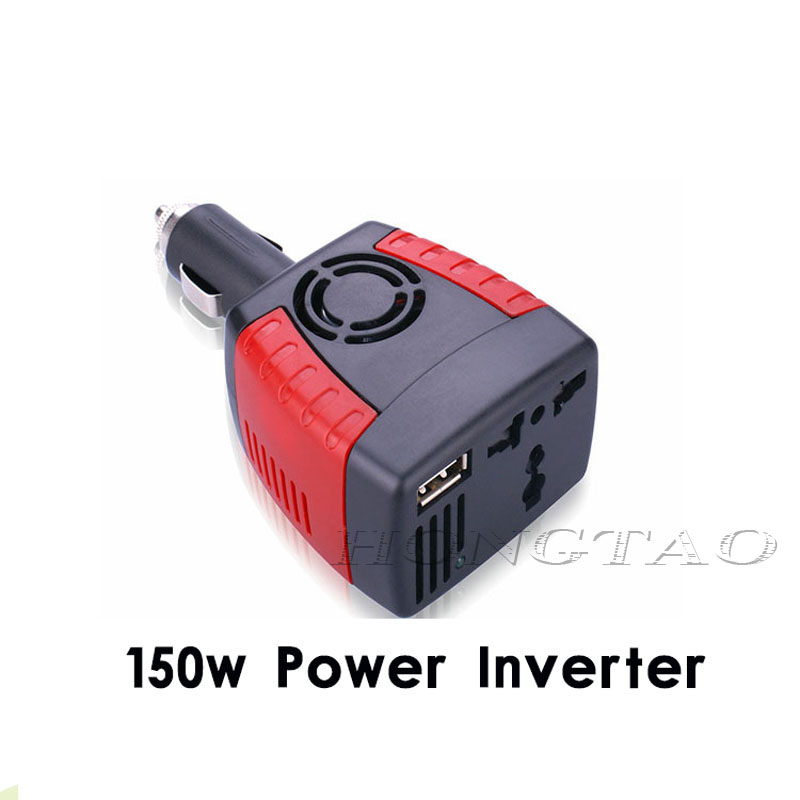 New cigarette lighter Power Supply 150W 12V DC to 220V AC Car Power Inverter Adapter with USB Charger Port hot selling universal zinc alloy 500w dc to ac power inverter w car lighter silver